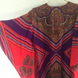 Vintage Paisley Caftan Mumu